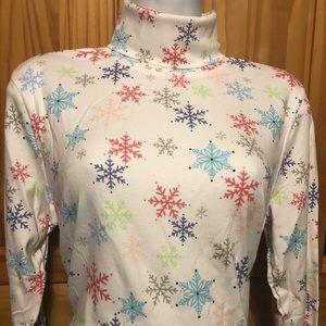Snowflake turtleneck
